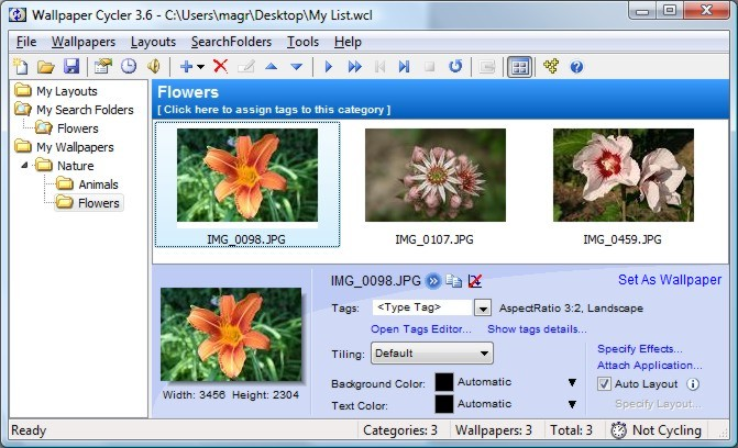 Windows 7 Wallpaper Cycler Pro 3.6.0.180 full